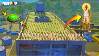 Unlimited Landmine vs Unlimited Players On Factory Roof Over Power Gameplay - Garena Free Fire