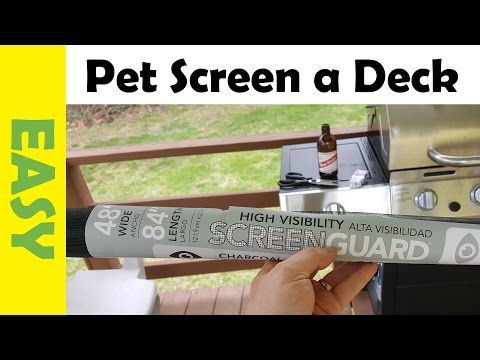 How to Install DIY Pet Fence using a Mesh Screen for Cats & Dogs
