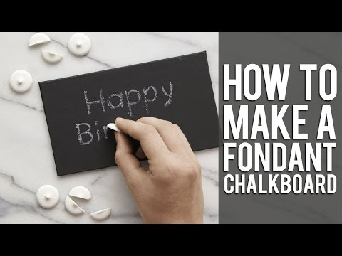 How to use Candy Chalk for your Edible Chalkboard Cake