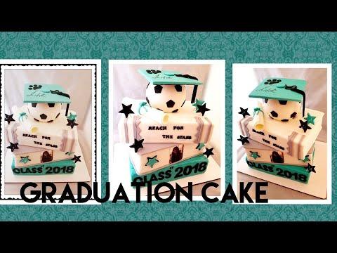 Books graduation cake/pastel de libros de graduacion