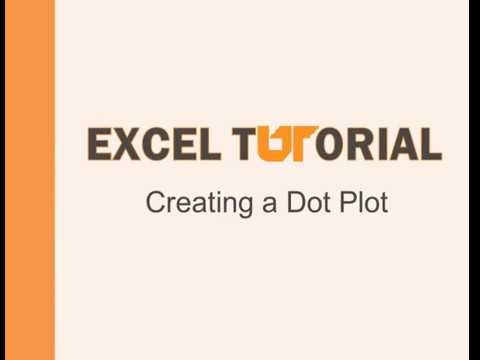 Excel Tutorial: Creating a dot plot