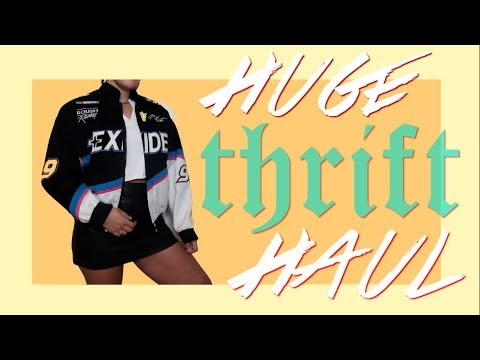HUGE Vintage NYC Try-On Thrift Haul | Brooklyn, NY Oct 2017
