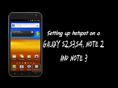Galaxy S3 - Setting up hotspot on a Samsung Mobile Phone
