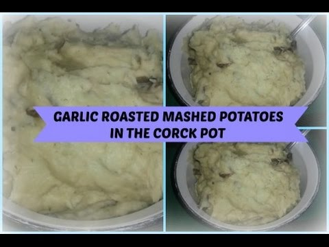 Garlic Roasted Mashed Potatoes { Easy fixing for Thanksgiving or holiday occassion}