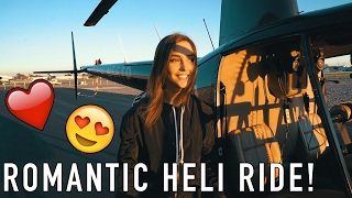 OUR ROMANTIC HELICOPTER DATE! we have bad news.