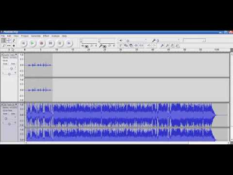 Audacity Tip - Adding Background Music
