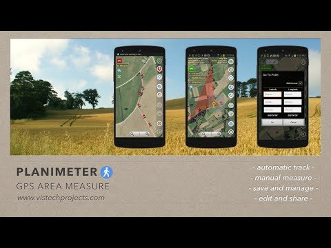 Planimeter - GPS area measure. All kinds of measurements on Google Maps using Android and GPS.