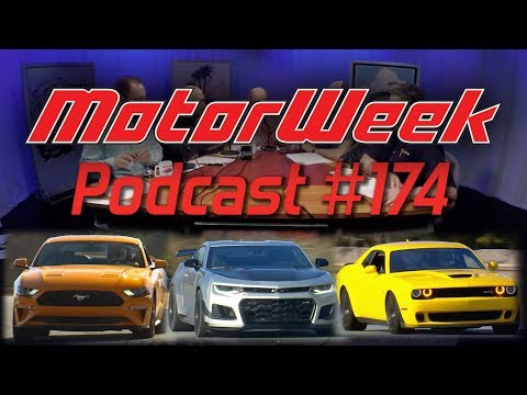 MotorWeek Podcast #174 - Ford Mustang, Dodge Challenger, Chevy Camaro, and Jeep Wrangler