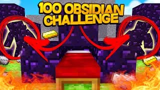100 OBSIDIAN CHALLENGE w/ SPECIAL GUEST!!! Bed Wars Sharky Minecraft Adventures