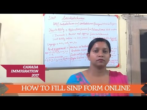How to fill out SINP Application Form Online at Home ?  PART 2