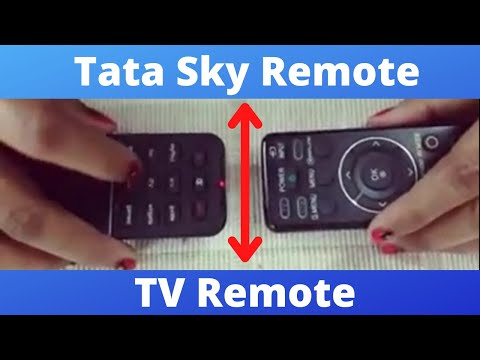 How to sync the TATA SKY Remote with any other TV Remote