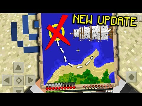 SECRET Treasure MAPS and CHESTS in Minecraft PE (Pocket Edition) MCPE UPDATE