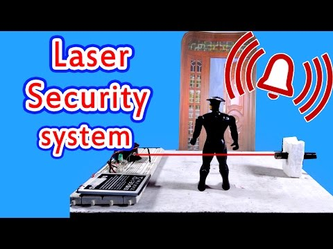 Laser security alarm|How to make at home