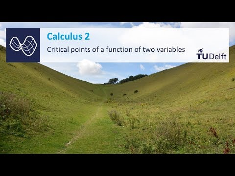 Critical points - Functions of several variables - Mathematics - Calculus - TU Delft