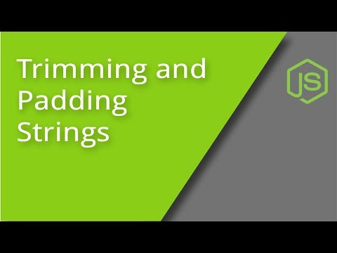 Trimming and Padding Strings