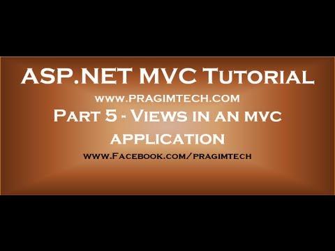 Part 5  Views in an mvc application