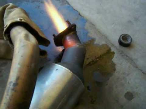Homemade Turbojet Combustion Chamber Test
