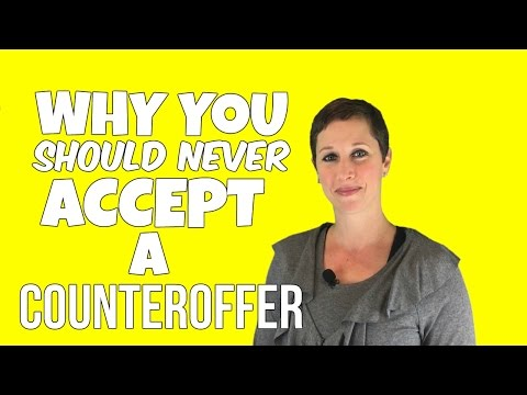 WHY YOU SHOULD *NEVER* ACCEPT A COUNTEROFFER | Debra Wheatman