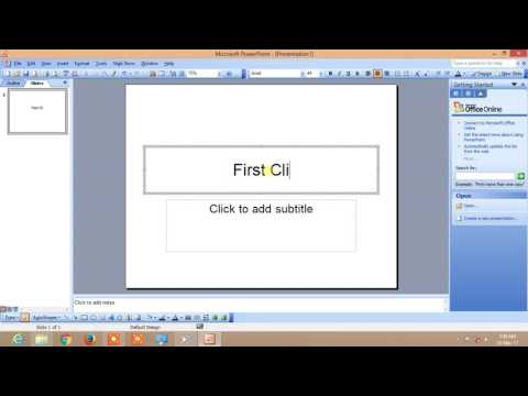 How to make 35mm slide in PowerPoint 2003