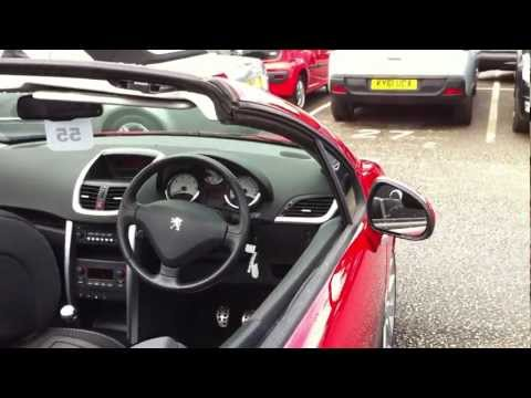 2007 07 PLATE PEUGEOT 207 CC 1.6 16V GT COUPE CONVERTIBLE - RED