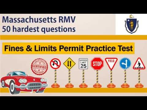 Massachusetts RMV Fines and Limits Permit Practice Test