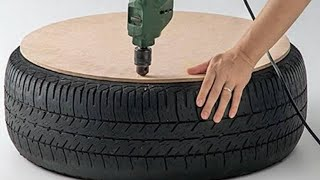 Man Drills A Hole In A Tire And Creates The Coolest Thing We've Seen In A Long Time