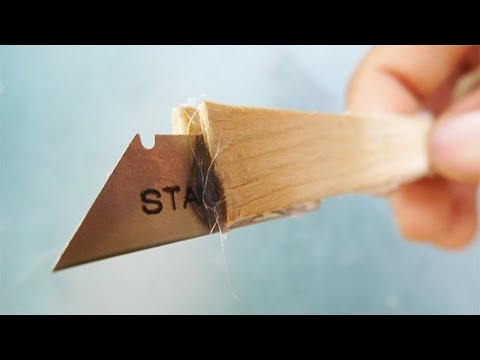 How to make paper cutter Using shaving blade