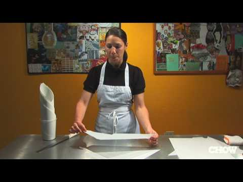 How to Make a Piping Cone from Parchment Paper - CHOW Tip