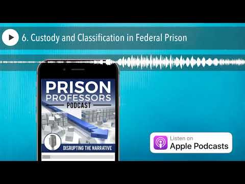 6. Custody and Classification in Federal Prison