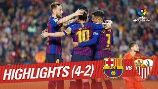 Resumen de FC Barcelona vs Sevilla FC (4-2)