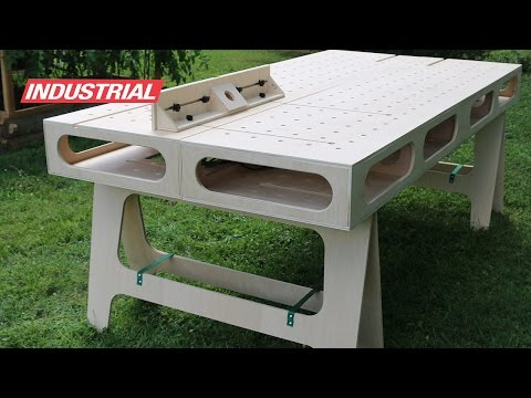 How To Make Paulk Homes Plywood Work Bench: Created w/Amana Tool Saw Blades & CNC Router Bits
