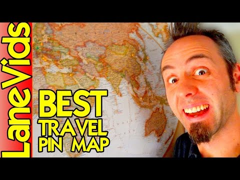 🗺 BEST TRAVEL PIN MAP 📍 | Maps for Travel & Teaching Kids Geography | Product Review | LaneVids
