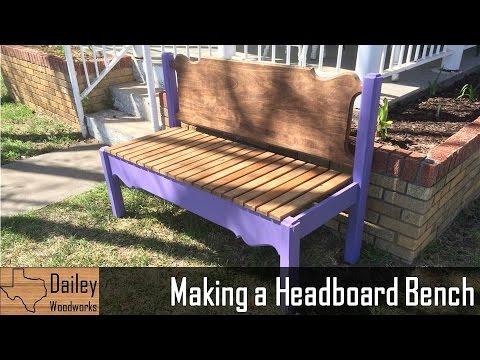 Making a Headboard Bench