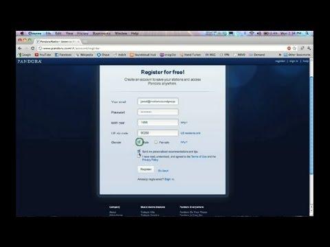 How to Join Pandora Radio : Various Sound & Audio Tips