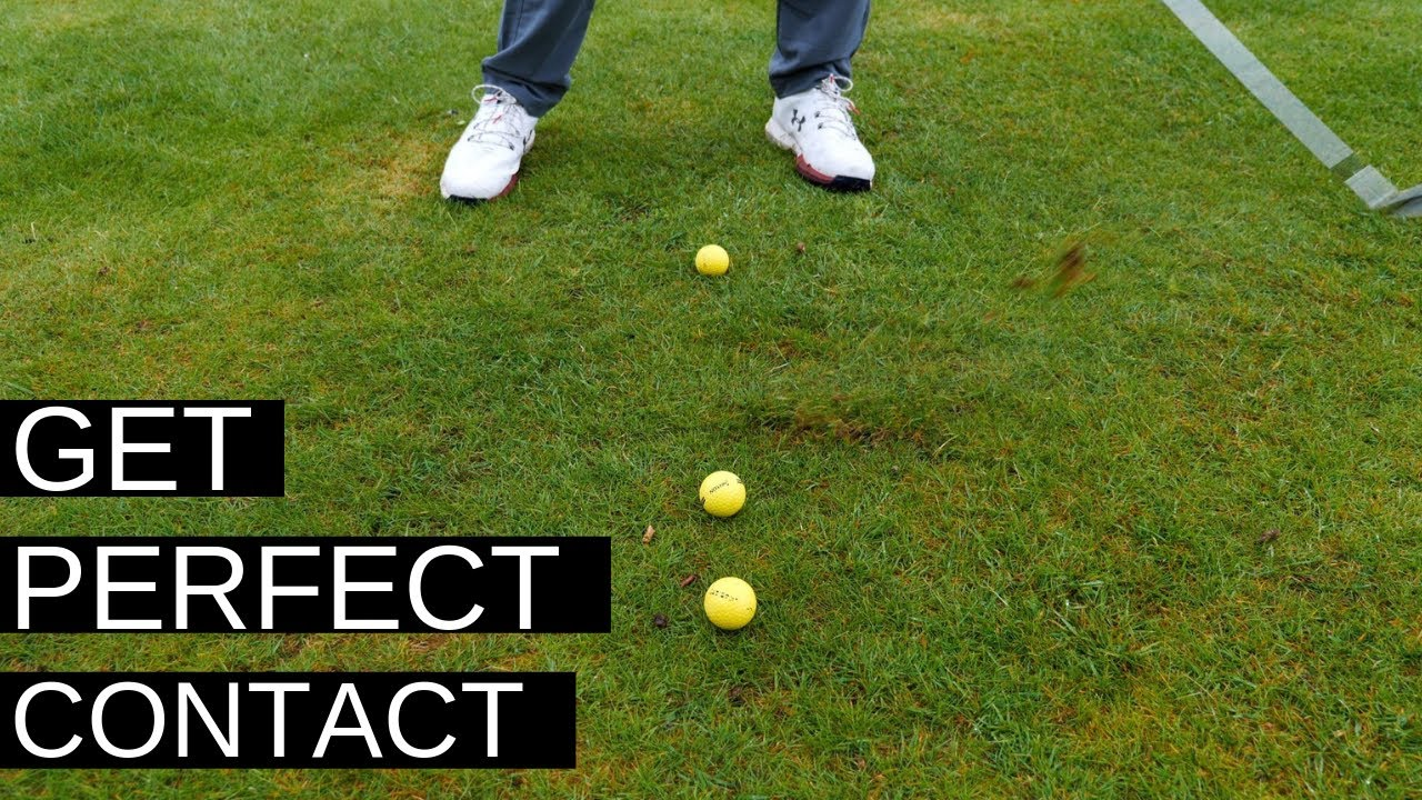 HIT THE GOLF BALL FIRST - THE EASY SWING DRILL