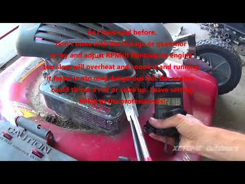 Simple Fix And Tune Up on a Briggs Quattro 4hp Murray Performance 22in Push Mower