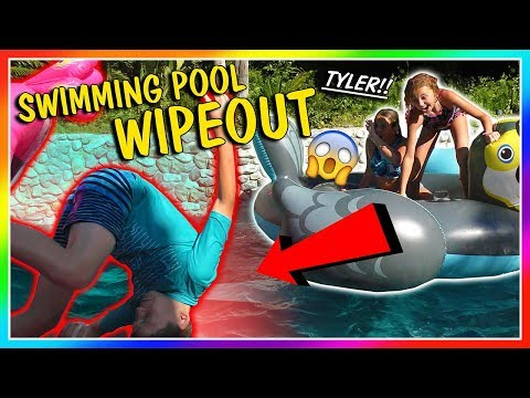 SWIMMING POOL WIPEOUT! | We Are The Davises
