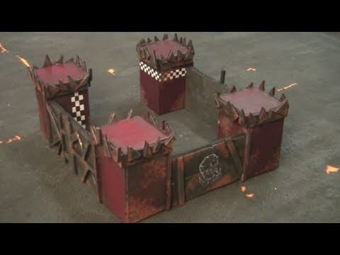 Warhammer 40k Ork Terrain Tutorial -  Magnetized Fortified Headquarters