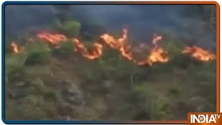 Massive fire continue to rage and spread in forests near Chamoli