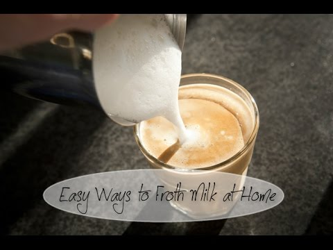 How to Froth Milk for Coffee Lattes and Cappuccinos (Without a Fancy Machine)