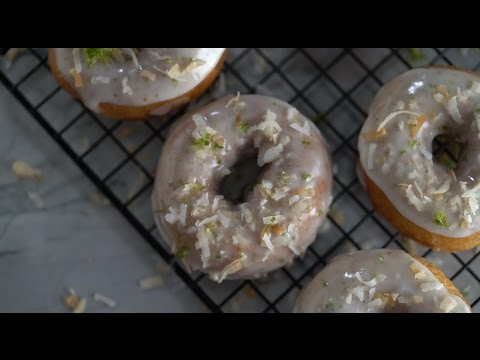 Coconut Lime Donuts