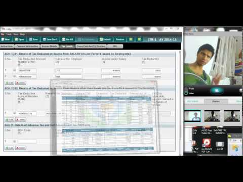 743( Income Tax)  How to Fill the TDS schedule for Multiple form 16 case