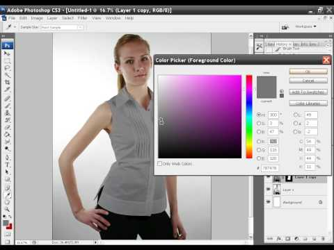 Photoshop change a shirt from white to red or even black