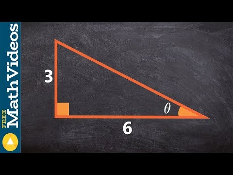 Using inverse tangent to solve for the missing angle of a triangle