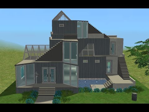 ♢ The Sims 2 ♢ Modern House ♢ Glass Roof ♢