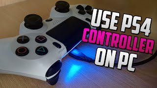 How To Use A Ps4 Controller On Pc Easy Tutorial Ps4 Gamepad On Pc