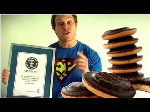 Guinness World Record for Most Jaffa Cakes (13) Eaten in One Minute   Furious Pete