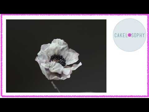 Poppy Flower: How to make it in  Sugar or Cold Porcelain