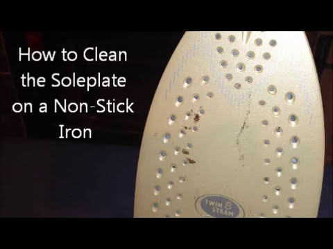 How To Clean The Soleplate On A Non Stick Iron