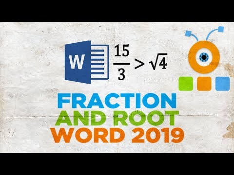 How to Make a Fraction and Root in Word 2019   How to Insert a Fraction and Root in a Word 2019